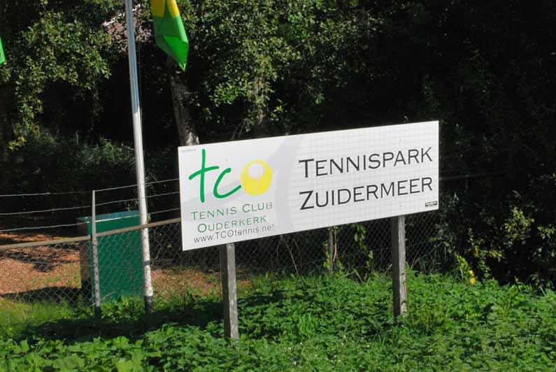 Bord Tennispark Zuidermeer