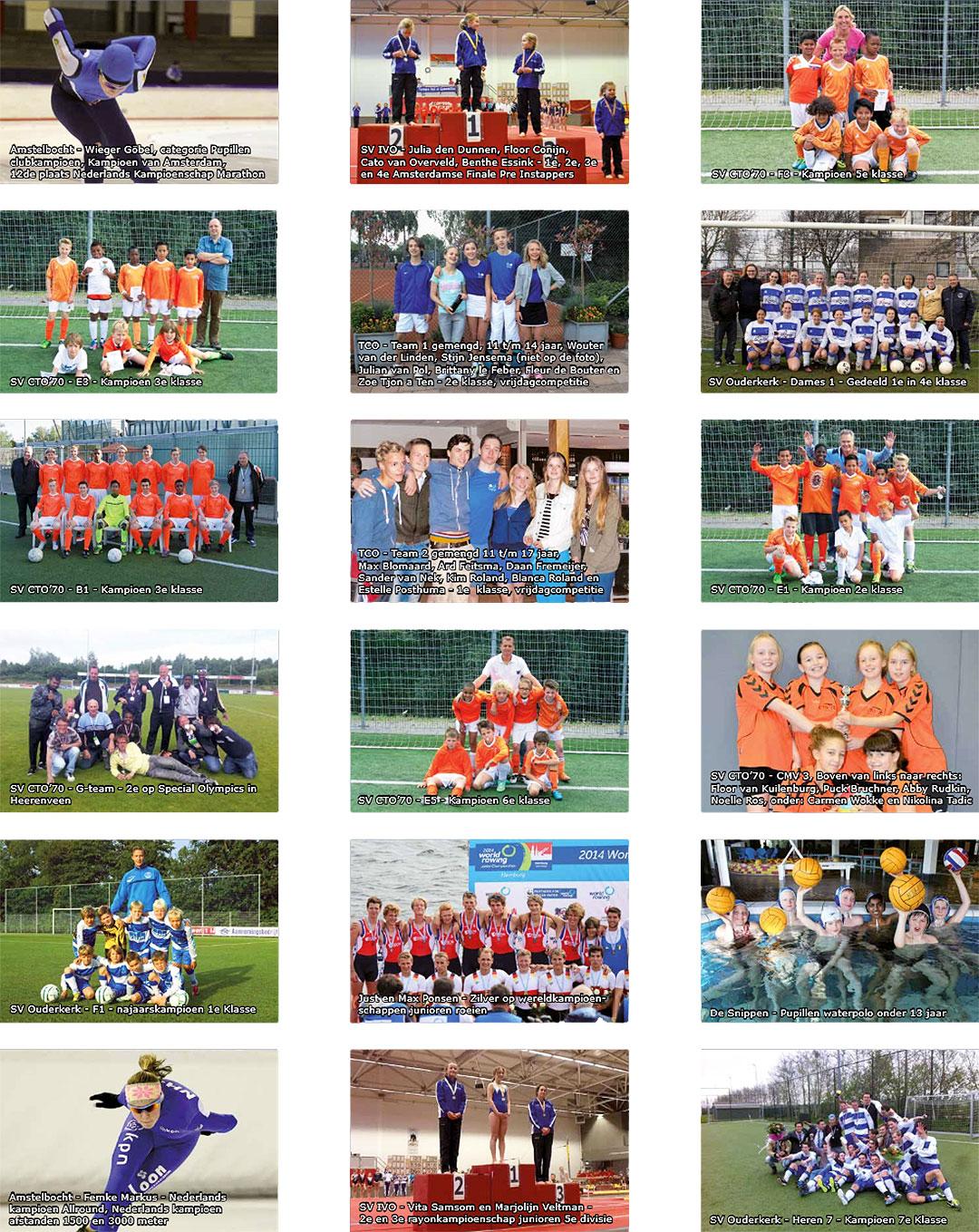 Poster sportkampioenen 2013-2014 Ouder-Amstel