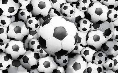 Voetbalplein tijdens het schoolvoetbaltoernooi Ouder-Amstel