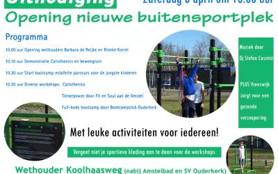 Programma opening buitensportpark