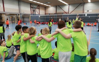 Hoog niveau tijdens het scholenvolleybaltoernooi
