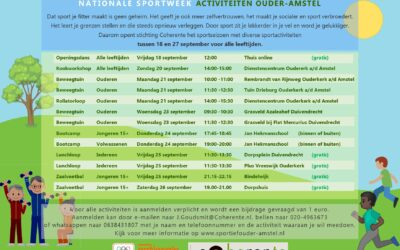 Nationale Sportweek activiteiten in Ouder-Amstel